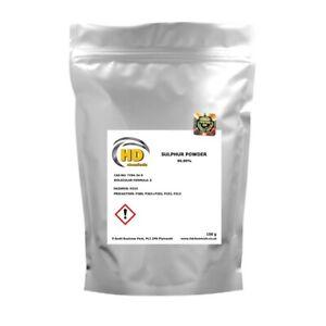 99.99% PURE GRADE Flowers of Sulphur Powder,Sulfur FREE COURIER - finest powder