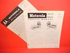 1955 DODGE ROYAL CORONET DESOTO FIREFLITE MOTOROLA AM RADIO+TUNER SERVICE MANUAL