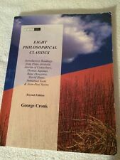 Eight Philosophical Classics Second Edition By George Cronk