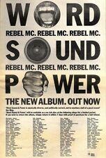 "21/11/92PGN11 REBEL MC : WORLD SOUND POWER ALBUM ADVERT 15X11"""