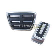 Original Edelstahl Pedale Pedalset Pedalkappen Schwarz DSG Automatik für VW