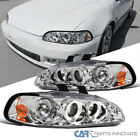 For 92-95 Honda Civic 234dr Led Dual Halo Projector Headlights Lamp Leftright