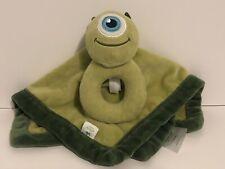 Disney Baby Monster's Inc MIKE WAZOWSKI Rattle Security Blanket Lovey Lovie