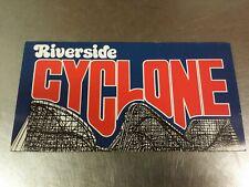 1983 Riverside Amusement Park Cyclone Roller Coaster Promo Brochure, Agawam Mass