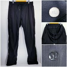 Lululemon Mens XL Athletic Track Pants Black Pinstripe Unlined
