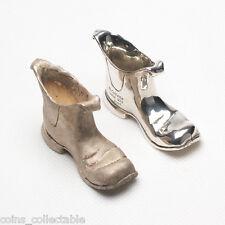 Miniature Sterling Silver Chelsea Boots w Wide Square Toe - Collette Australia