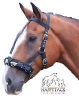 New Shires Black Full/Cob/Pony size Nylon Webbing Lunge Cavesson Lightweight 427