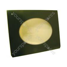 Genuine Indesit Drop Down Green Oven Door Glass