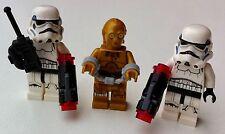 3 Minifiguras Lego Star Wars C3PO (75173) 2 esposas de soldados de asalto (75165)