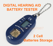 **** DIGITAL HEARING AID BATTERY TESTER *** w/ 2 batteries storage USA Seller