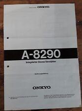 Bedienungsanleitung Onkyo A-8290 Stereo Verstärker