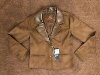 Collezioni unisex leather jacket Color Brown Size S/M