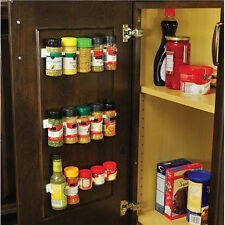 4Pcs/Set Clip N Store Spice Wall Rack Storage Kitchen Organizer Cabinet Hooks