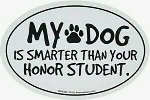 """Dog Magnet, """"My Dog Is Smarter Than Your Honor Student."""" Fun car Magnet 6"""" x 4"""""""