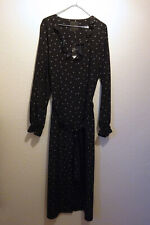 Next black/white spotted dress size 14 new with tags