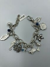 NWT Brighton SHIP TO SHORE Silver Nautical Bracelet Shells Fish Anchor MSRP $88
