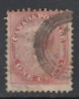 "Canada Scott #14  1 cent rose Queen Victoria ""First Cents""   F *"