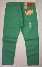 LEVI'S Men's 501 Jeans Button Fly Shrink to Fit Green Straight Size 36 X 34 NEW