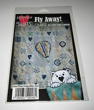 """FLY AWAY BEAR in Hot Air Balloon Quilt sewing pattern 55"""" x 67"""""""