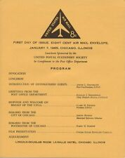 #UC37 8c Airmail Embossed Envelope First Day Ceremony  Program