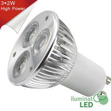 Bombilla LED GU10 3*2W High Power Blanco Cálido 220V - Únicamente 6W.