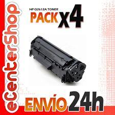 4 Toners Compatibles HP Q2612A NON-OEM para HP Laserjet 1020
