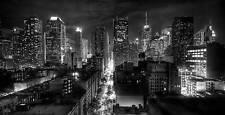 NEW YORK CITY CANVAS ART PICTURE BLACK WHITE CITYSCAPE