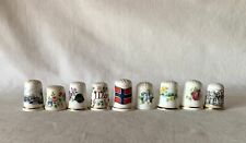 9 Mixed Vintage Thimbles - Different Themes and Designs / Manufacturers