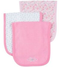 Gerber Baby Girl'S 3-Pack Terry Burp Cloths - Butterfly - Pink - Nwt