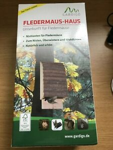 Gardigo Bat Box Nest, FSC Wood Bat House Hotel -  New Boxed - Gift- Charity