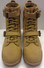 Polo Ralph Lauren Maurice Strap Leather Boot Wheat Tan Men's 11.5 D $189 NIB New
