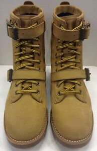Polo Ralph Lauren Men 8 D Maurice Strap Leather Boot Wheat Tan $ 189 NIB New