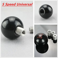 Car Aluminum Ball Style 5 Speed Manual Gear Stick Shift Knob Lever Shifter Black