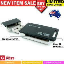 USB Memory Card Reader Mini Compact SD SDXC MicroSD MicroSDHC SDHC Micro SDXC AU