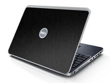 BLACK BRUSHED TEXTURED Vinyl Lid Skin Cover fits Dell Inspiron 15R N5010 Laptop