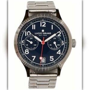 LUCKY BRAND Jefferson stainless steel bracelet 38mm Men's watch