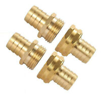 2sets 3/4 Inches Brass Garden Hose Mender End Repair Male Female Connector Kit