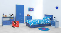 Boys or Girls High Gloss Bedroom Furniture Units Pink Blue Purple Black