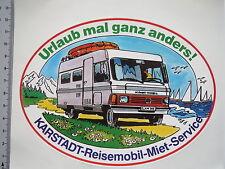 Aufkleber Sticker Reisemobil-Miet-Service - Karstadt - Urlaub anders (M1716)