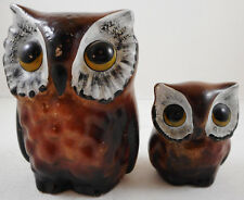 Vintage Plaster Chalkware Owl Set of 2 Norma Originals