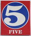 ROBERT INDIANA NUMBER 5 FIVE SCREEN PRINT 1965