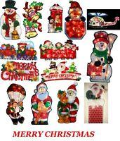 Small Christmas Silhouette Lights 10 LED Window Festive Decoration Indoor B/O