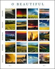 O Beautiful Scenes of America Sheet of 20 Forever Stamps Scott 5298
