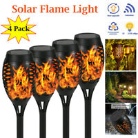 4/6/8PCS xWaterproof Solar Flickering LED Torch Lamp Flame Light Garden Outdoor
