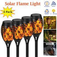 4 x Solarleuchte LED Garten Beleuchtung Flamme Fackel Solar Licht Lampe Leuchte