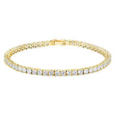 14K Gold Plated Cubic Zirconia Classic Tennis Bracelet for Women