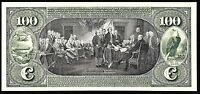 Proof Print or Intaglio Impression by BEP - Back of 1863 $100 National Currency