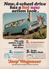Print.  1966 Jeep Wagoneer 4-wheel drive auto ad