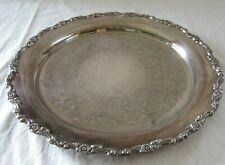 "Vintage Large 15.5"" Serving Tray Royal Provincial Oneida Silverplate"