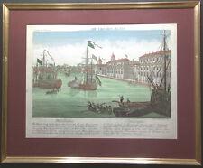 AMERIKA PENSYLVENIA PHILADELPHIA ANSICHT KOLORIERT 1780